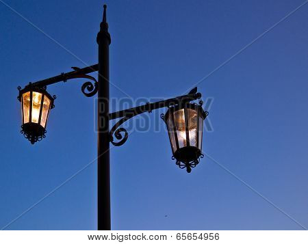 Wrought Iron Street Lantern