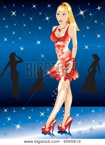 Formal Red Gown Woman