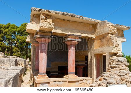 The North Lustral Basin building. Knossos Palace Knossos Crete Greece poster