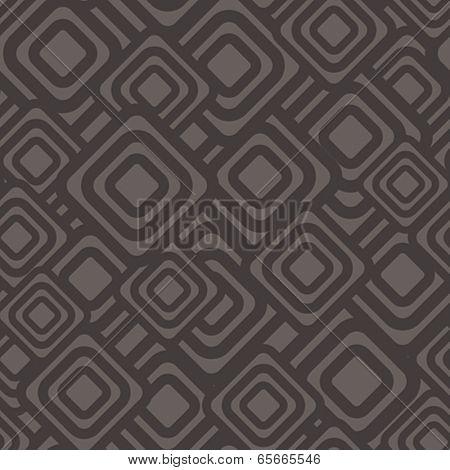 Seamless geometric dark pattern. Vector illustration.