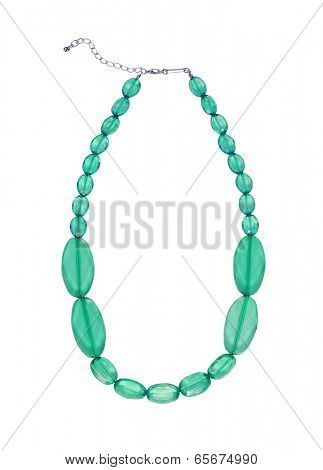 fashion necklace isolated on white