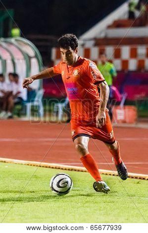 Sisaket, Thailand-may 21: Gorka Jose Unda Velasco Of Sisaket Fc. In Action During Thaicom Fa Cup Bet