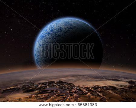 Alien Planet fantasy space scene