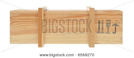 Wooden Shipping Box Isolated