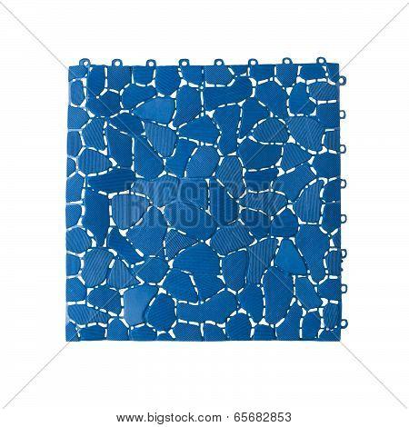 Anti slip plastic tile