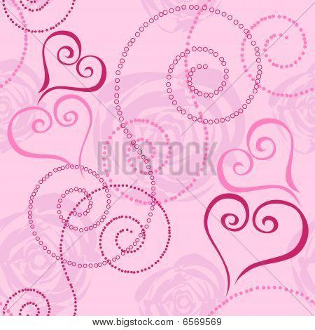 Nahtlose Muster mit Herzen