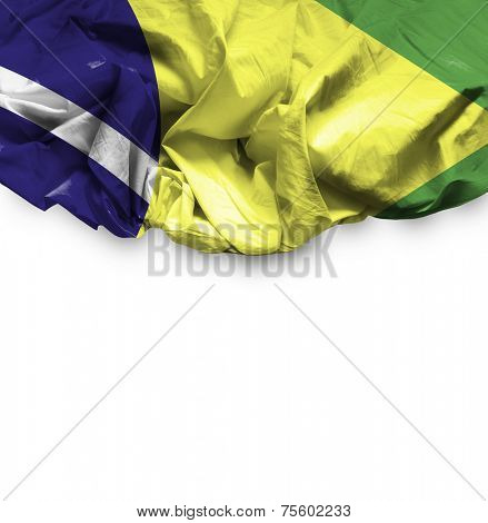 Brazil waving flag on white background