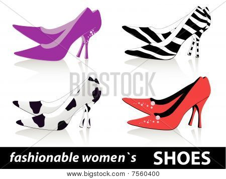 fashionable women`s shoes