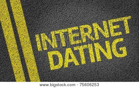 Internet Dating written on the road