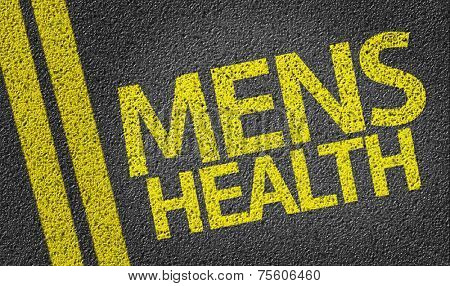 Mens Health written on the road