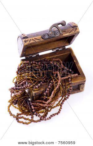 Overflowing Treasure Chest - Wood Jewellery
