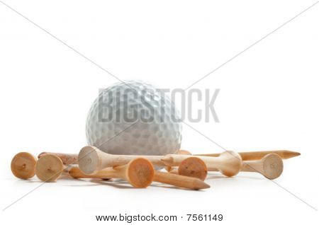 Golf Ball With Tees
