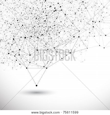 Vector Connection Structure Background