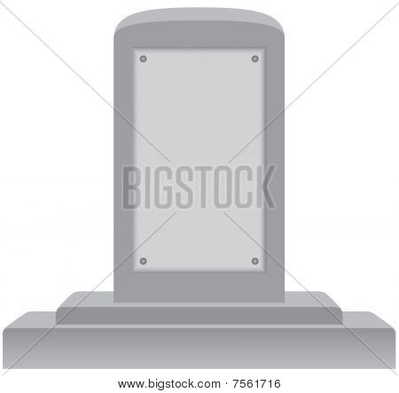 Memorial with Blank Plaque