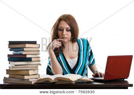 Female Student Prepare For Examination