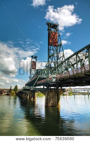 Hawthorne Drawbridge In Portland, Oregon