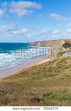 Watergate Bay Cornwall England UK Cornish north coast between Newquay and Padstow