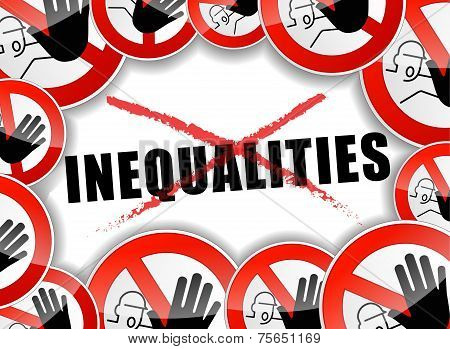 No Inequalities Abstract Concept