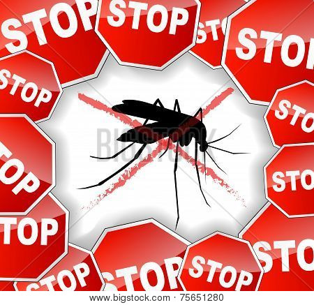 Stop Mosquitoes Abstract Concept