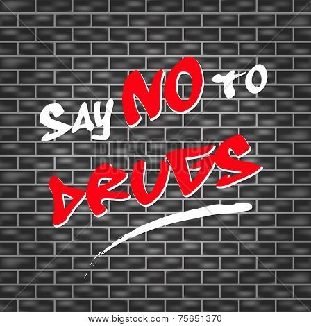 abstract illustration for say no to drugs poster