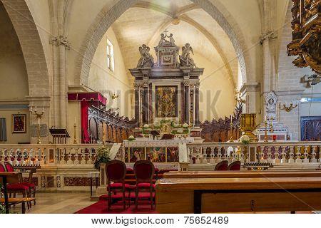 Inside Of Cathedral Sant Antonio Abate In Castelsardo
