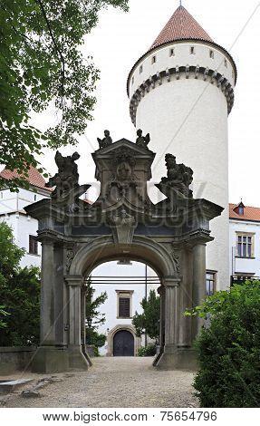 Gateway to Konopiste in Czech Republic.