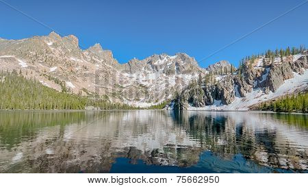 Cramer Lake Reflection, Sawtooth National Recreation Area, Near Stanley, ID