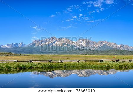 Sawtooth Range Reflection, Meadow Creek, Stanley, ID