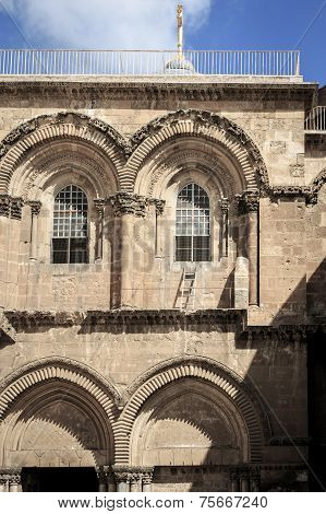 Immovable Ladder, Church of the Holy Sepulchre