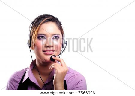 contact centre woman
