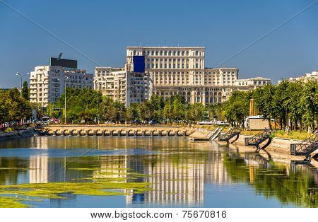 View Of Palace Of Parliament In Bucharest, Romania
