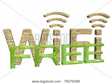 Sign of a free zone of a wireless communication poster