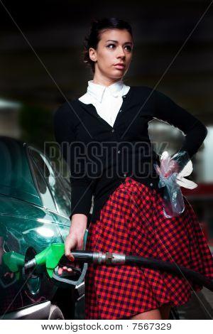 Gas Station Woman