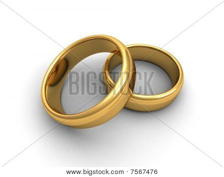 Isolated gold rings