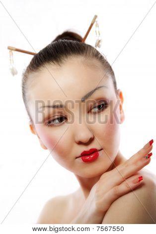 Portrait von geisha