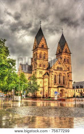 Herz-jesu-kirche, A Church In Koblenz, Germany