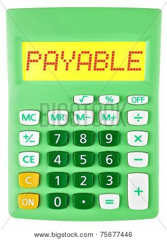 Calculator With Payable On Display