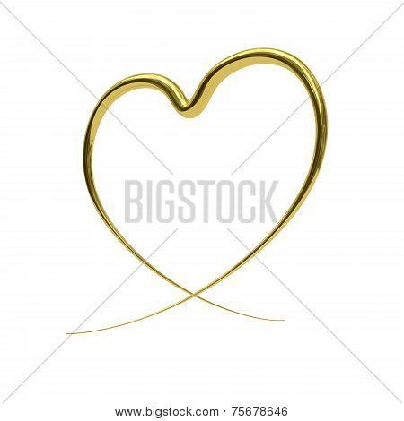 Abstract Golden Heart