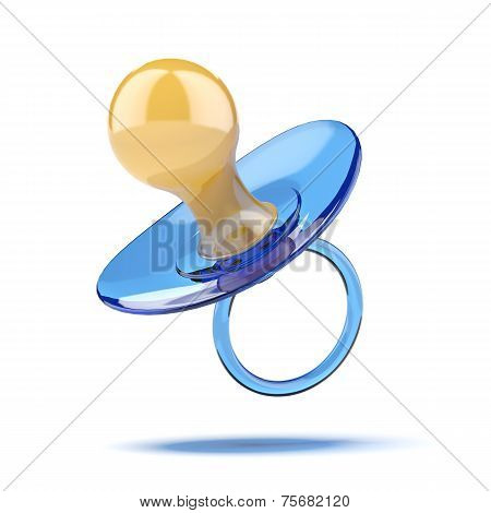 Baby's dummy isolated on a white background. 3d render poster