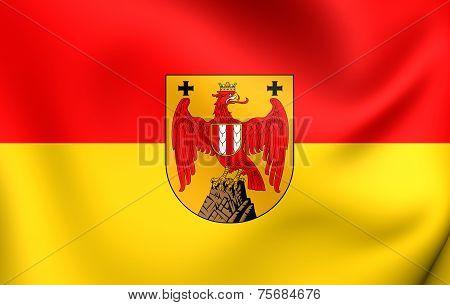 Flag Of Burgenland, Austria.