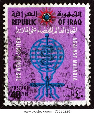 Postage Stamp Iraq 1963 Malaria Eradication Emblem