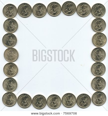 gold andrew jackson coin border