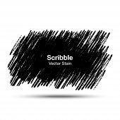 Scribble stain Hand drawn in pencil , vector logo design element poster