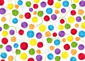 Colorful yarn balls as background isolated on white poster