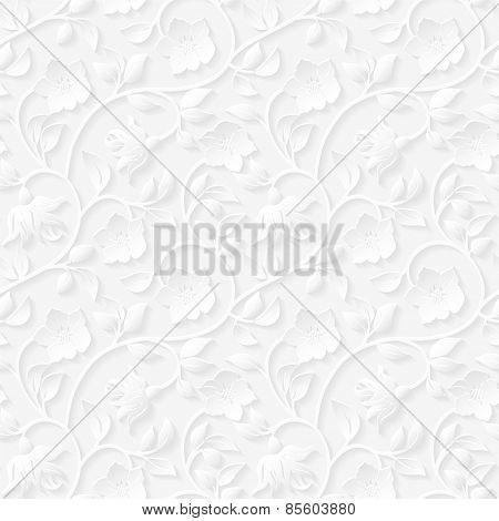 Seamless floral ornamental pattern.