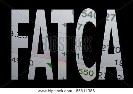Inscription Fatca on PC screen
