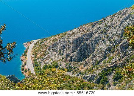 route along the coast