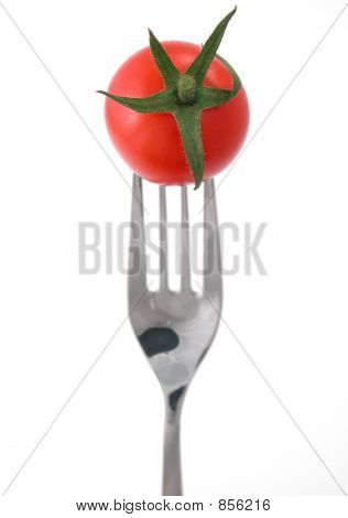 Tomatoes against a white background