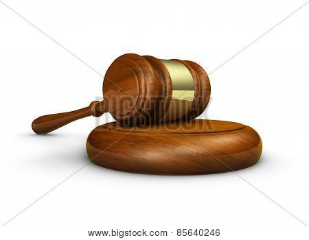 Justice Law Gavel Symbol