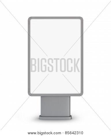 Vertical billboard. 3d illustration on white background